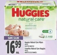 Huggies Natural Care Wipes 448 Un.