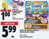 Elite Or Manischewitz Chocolate Coins