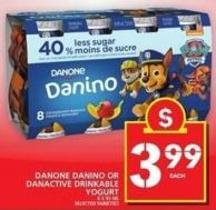 Danone Danino Or Danactive Drinkable Yogurt
