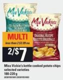 Miss Vickie's Kettle Cooked Potato Chips - 180-220 G