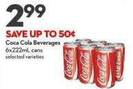 Coca Cola Beverages 6x222ml Cans