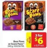 Bear Paws or Scare Paws