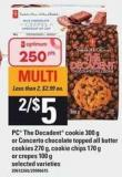 PC The Decadent Cookie - 300 G Or Concerto Chocolate Topped All Butter Cookies - 270 G - Cookie Chips - 170 G Or Crepes - 100 G