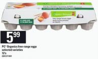 PC Organics Free-range Eggs - 12's