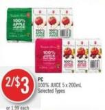 PC 100% Juice 5 X 200ml