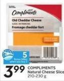Compliments Natural Cheese Slices 210-230 g - 5 Air Milesbonus Miles