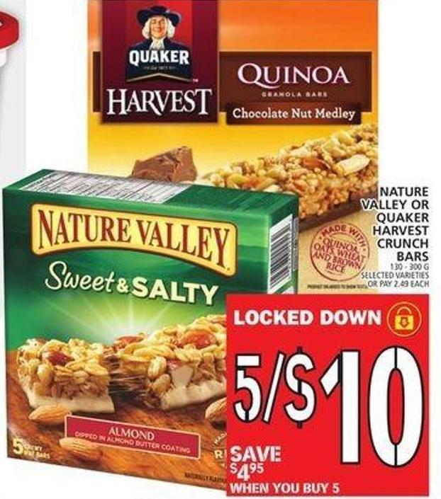 Nature Valley Or Quaker Harvest Crunch Bars