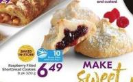 Raspberry Filled Shortbread Cookies 8 Pk 320 g - 10 Air Miles Bonus Miles