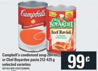 Campbell's Condensed Soup 284 Ml Or Chef Boyardee Pasta 212-425 g