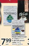 Nabob Or Maxwell House Coffee K-cups Or T-discs - 8-16's Or Mccafé Ground Coffee - 340 G