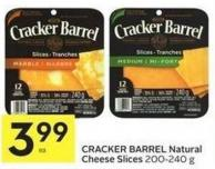 Cracker Barrel Natural Cheese Slices 200 – 240 g