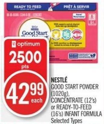Nestlé Good Start Powder (1020g) - Concentrate (12's) or Ready-to-feed (16's) Infant Formula
