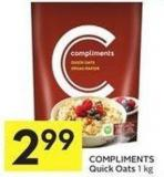 Compliments Quick Oats 1 Kg