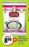India Gate Feast Rozzana Basmati Rice 4.54 Kg
