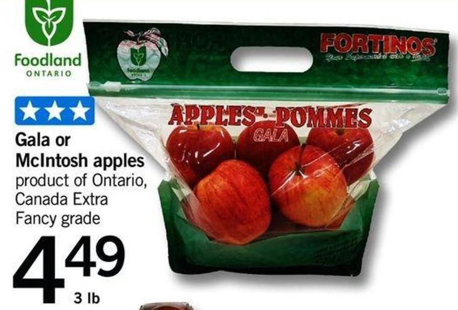 Gala Or Mcintosh Apples - 3 Lb