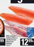 Msc Icelandic Haddock Fillets Or Steelhead Trout Fillets Fresh