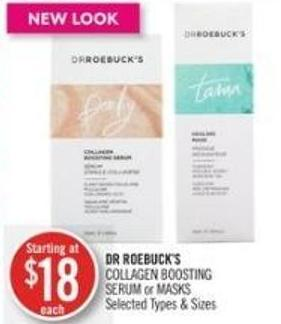 Dr Roebuck's Collagen Boosting Serum or Masks