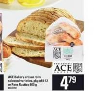 Ace Bakery Artisan Rolls.pkg Of 8-12 Or Pane Rustico - 600 G