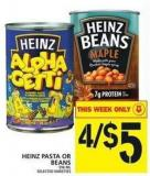 Heinz Pasta Or Beans