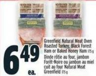 Greenfield Natural Meat Oven Roasted Turkey - Black Forest Ham Or Baked Honey Ham 175 G