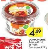 Compliments Salsa 448 mL or Fresh Guacamole 227 g