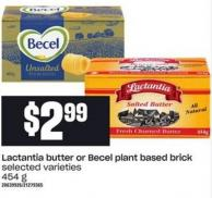 Lactantia Butter Or Becel Plant Based Brick - 454 G