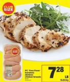 PC Free From Boneless Skinless Chicken Breasts