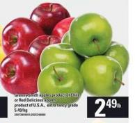 Granny Smith Apples Product Of Chile Or Red Delicious Apples