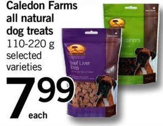 Caledon Farms All Natural Dog Treats - 110-220 G