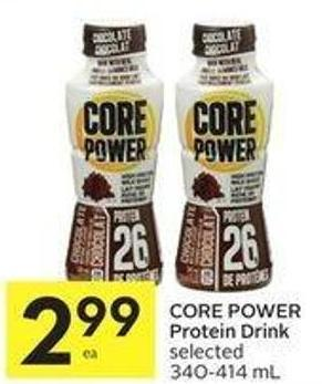 Core Power Protein Drink Selected 340-414 mL