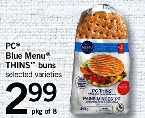 PC Blue Menu Thins Buns - Pkg Of 8