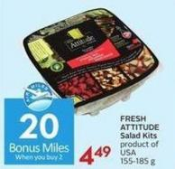 Fresh Attitude Salad Kits Product of USA 155-185 g - 20 Air Miles Bonus Miles