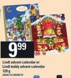 Lindt Advent Calendar Or Lindt Teddy Advent Calendar - 128 g