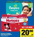 Pampers Or Huggies Super Big Pack Diapers