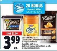 Kraft Cheez Whiz 450 G Or Cracker Barrel Cheese Snacks Or Feta 168 - 180 G