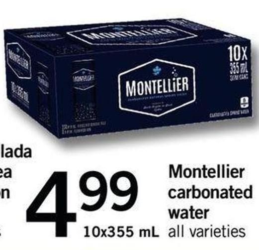 Montellier Carbonated Water - 10x355 Ml