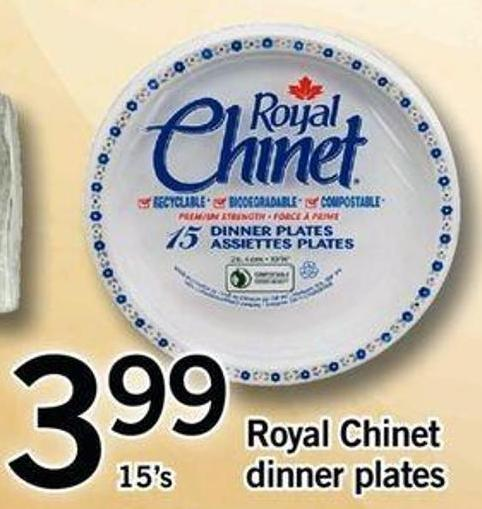 Royal Chinet 8.75in Plates on sale | Salewhale.ca