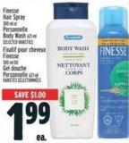 Finesse Hair Spray 300 Ml Or Personnelle Body Wash 621 Ml