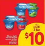 Oikos or Light Fat-free Yogurt