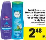 Aussie - 400 Ml Or Herbal Essences - 300 Ml Shampoo Or Condtitoner Or Styling