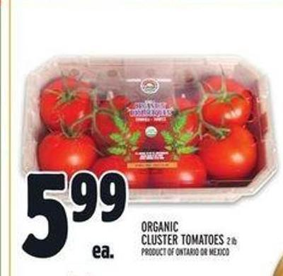 Organic Cluster Tomatoes 2 Lb