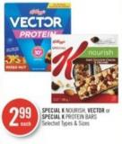 Kellogg's Special K Nourish - Vector or Special K Protein Bars