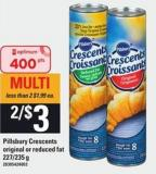 Pillsbury Crescents Original Or Reduced Fat - 227/235 G