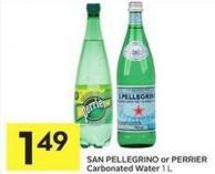 San Pellegrino or Perrier Carbonated Water 1 L