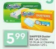 Swiffer Duster Kit 1 Pk - Cloths 12-16 Pk or Cleaning Solution 1.25 L