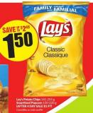 Lay's Potato Chips 141-255 g Smartfood Popcorn 150-220 g (After 4 Day Sale $1.97)