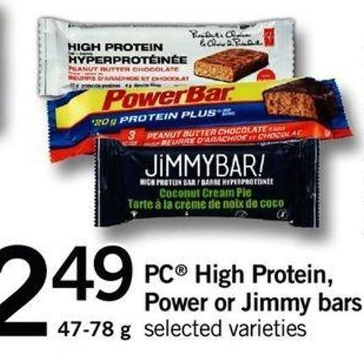 PC High Protein - Power Or Jimmy Bars - 47-78 G