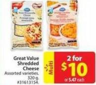 Great Value Shredded Cheese