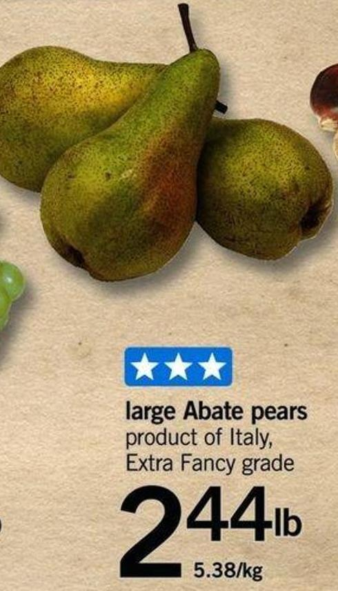 Large Abate Pears