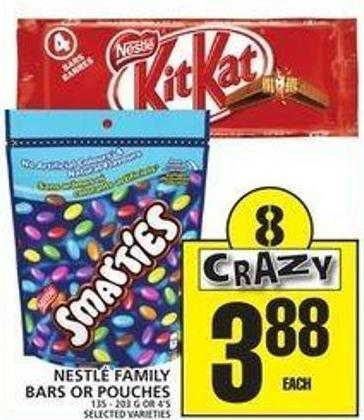 Nestlé Family Bars Or Pouches
